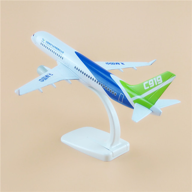20cm New Air COMAC C919 China Commercial Aircraft Corporation Airlines Plane Model Aircraft Airplane Model For Baby Gifts