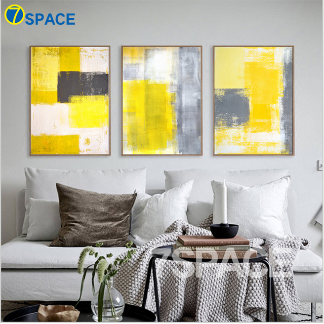 7 Space Modern Abstract Oil Painting Wall Art Print Canvas Painting ...