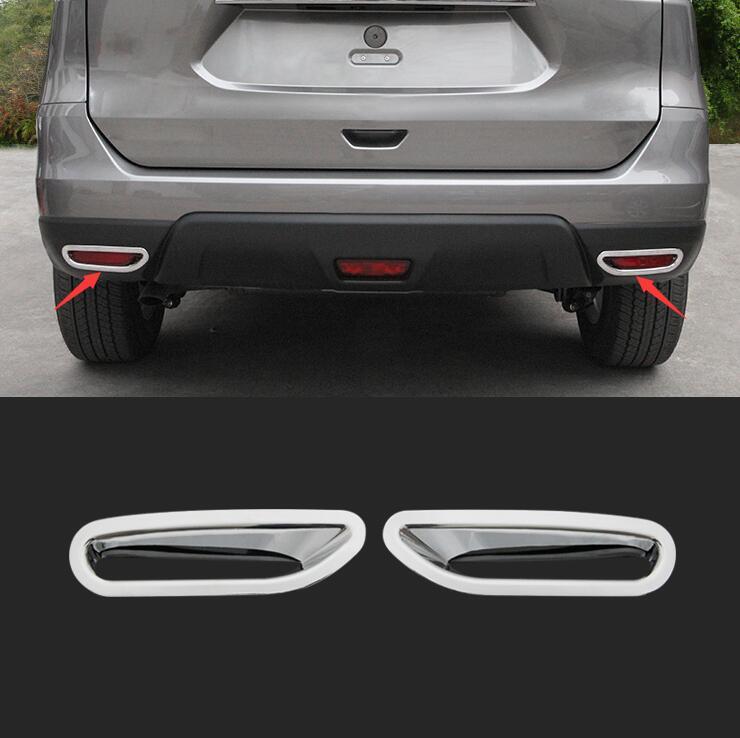 For Nissan X TRAIL X trail Xtrail T32 Rogue 2014 2015 Foglight Reflector ABS Chrome Rear