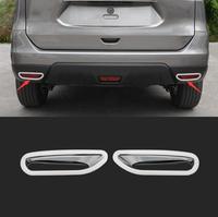 ABS Chrome Rear Fog Light Lamp Cover Trims For Nissan X TRAIL X Trail Xtrail T32