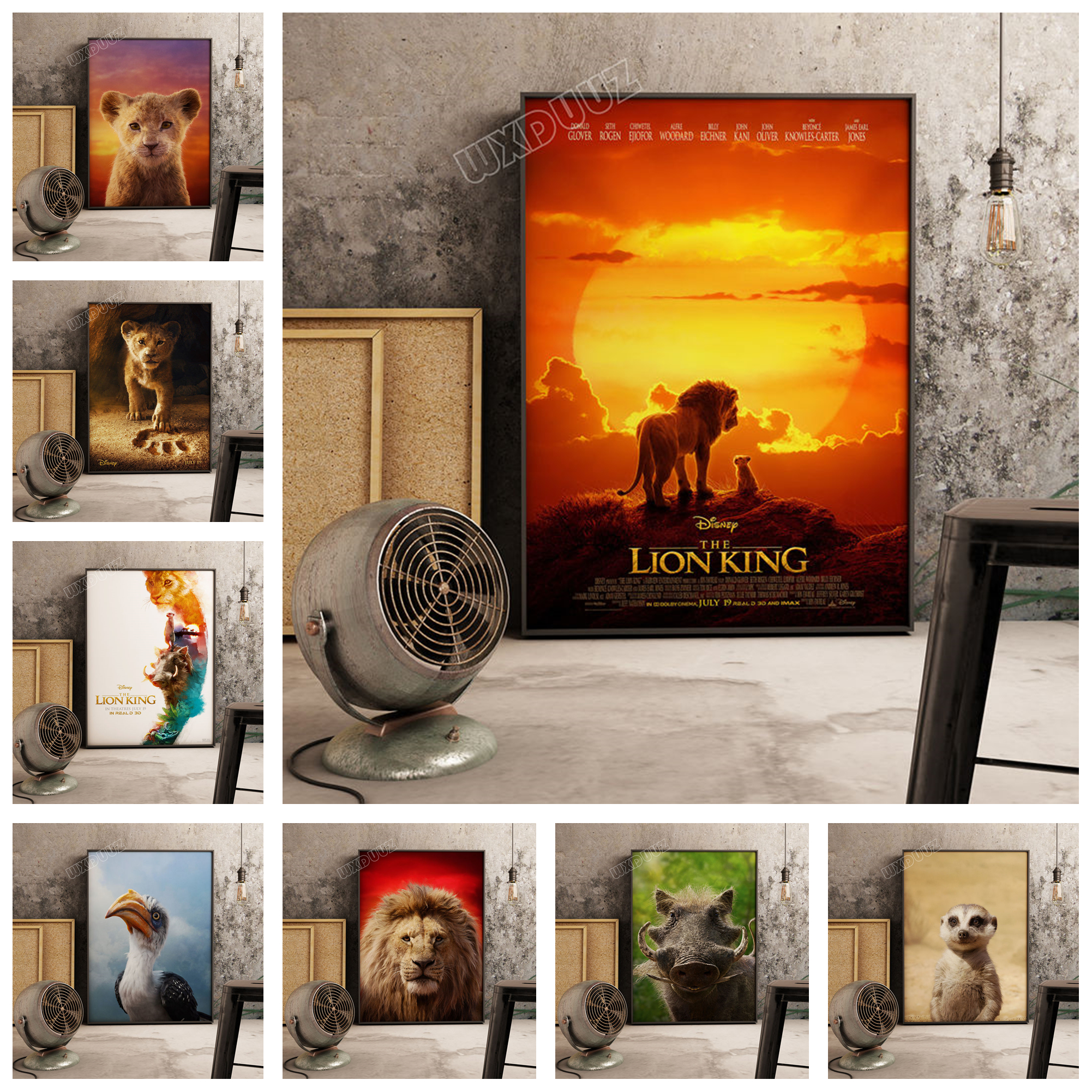 Decoration Canvas Wallpaper Painting Picture Poster-Print Movie Living-Room Lion King