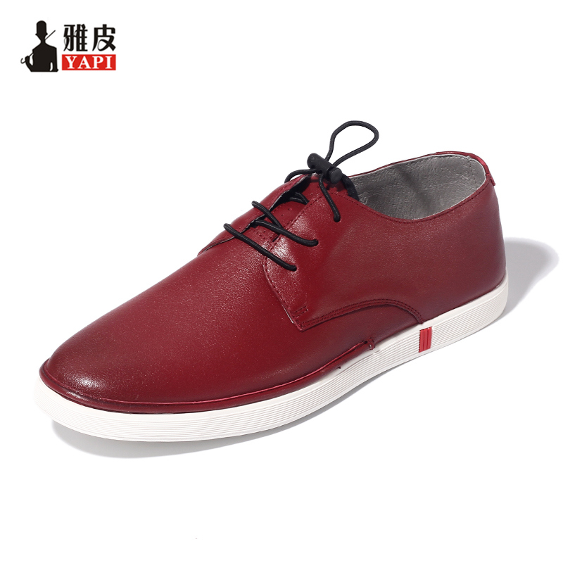 Trendy Mens Lace Up Soft Genuine Leather Shoes Boys Students Fashion Sneakers Casual Outdoor Loafers White Shoes tfsland men women genuine leather loafers students white shoes unisex spring round toe lace up breathable walking shoes sneakers