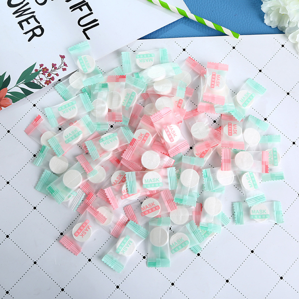 30PCS/Set Women Girls Facial Cotton Compressed Masque Disposable Wrapped Masks Sheets Tablets for DIY Skin Care