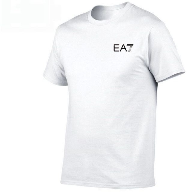 2019 New Casual EA7 Printing T-shirt Brand Clothing Hip Hop Letter Print Men T Shirt Short Sleeve High Quality Tee XS-2XL