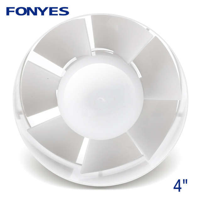 4 Inch Inline Duct Fan Mini Plastic Booster Exhaust Fan Extractor Air Vent Ceiling Pipe Ventilation For Bathroom 100mm 110v