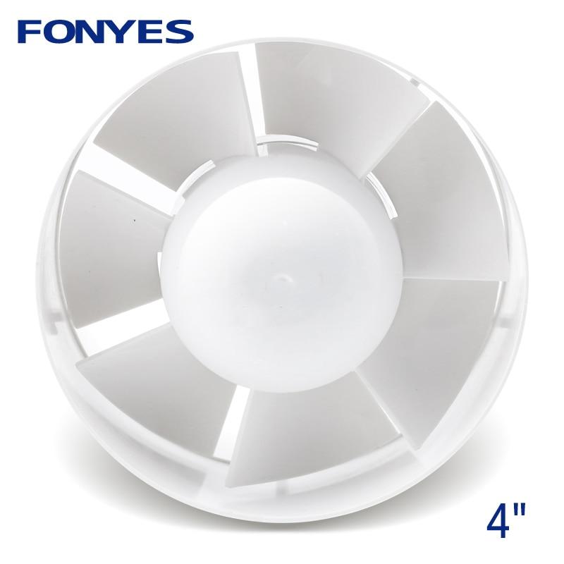 4 Pollice Inline Duct Fan Mini Di Plastica Di Richiamo Ventola Di Scarico Extractor Air Vent Soffitto Tubo Di Ventilazione Per Il Bagno 100mm 110 V