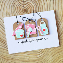 Eastshape Cutting Dies Cute Cupcake Metal with Clear Stamp DIY Decorative Embossing Scrapbooking Stamps and For Card Making
