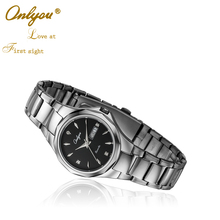 ONLYOU Luxury Brand Business Quartz Watch Tungsten Steel Lovers Watches Women Men Ladies Dress Wrist Watches Clock 8826