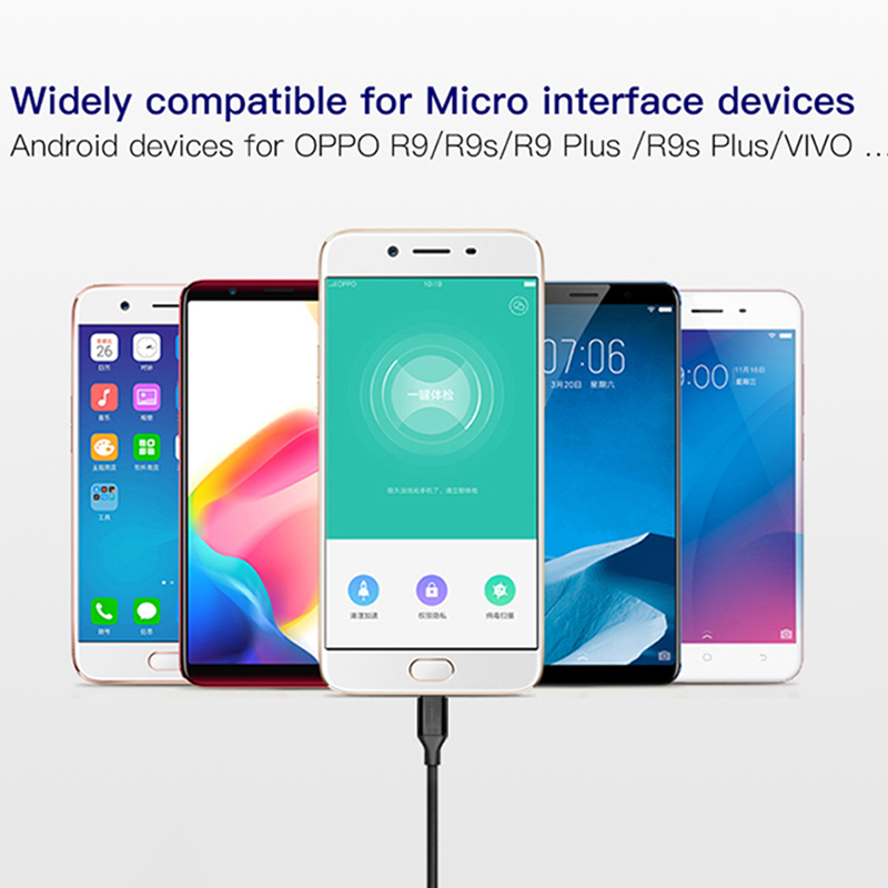 Oppselve Micro Usb Cable 5V 2A Charging Data Fast Charger Cable For Samsung Xiaomi Phone Charger Cabel Microusb Cord Wire Tubo in Mobile Phone Cables from Cellphones Telecommunications