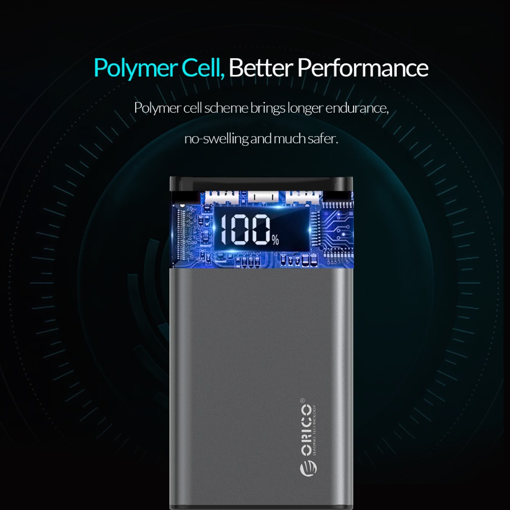 ORICO 10000mAh Power Bank Dual USB 5V2A