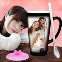 Big Size Heat Sensitive Color Changing Coffee Cup Personalized Mug 16OZ Latte Mug