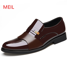 Height Increase 6CM Men Formal Wedding Shoes Luxury Loafers Business Dress Italian Patent Leather Oxford For