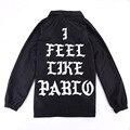 Я чувствую, как пабло Куртка для Мужчин Лето Осень Мода YEEZY черный Я чувствую, как Пол Сезона 3 Хип-хоп Kanye West куртка