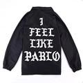 I feel like pablo Jacket for Man Summer Autumn Fashion YEEZY Black I feel like Paul Season 3 Hip hop Kanye West Jacket