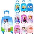 Tienda de moda Caliente 18 pulgadas lindo viaje equipaje maletas para gilrs y niños de La Historieta trolley Viajero Tirón Rod Trunk