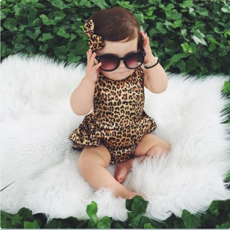 2019 Brand New Cute Newborn Toddler Infant Baby Girl Leopard Pullover   Romper   Jumpsuit Harem Pants Sleeveless Outfits Clothes