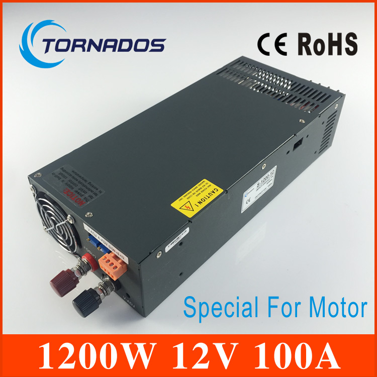 1200W 12V 100A Switching power supply for LED Strip light AC to DC power suply input 220v 1200w power supply S-1200-12 sheng 1200 s spot lighting hti1200w d7 60 msr1200gold sa de hmi 1200w holide lamps