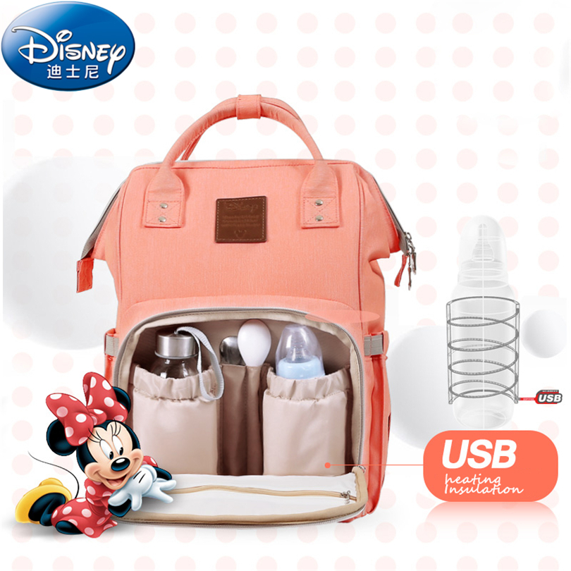 Disney 2018 Thermal Insulation Bag High-capacity Baby Feeding Bottle Bags Backpack Baby Care Diaper Bags Oxford Insulation Bags disney new upgraded version mickey and minnie insulation bag top capacity baby feeding bottle bags diaper bags oxford usb bags