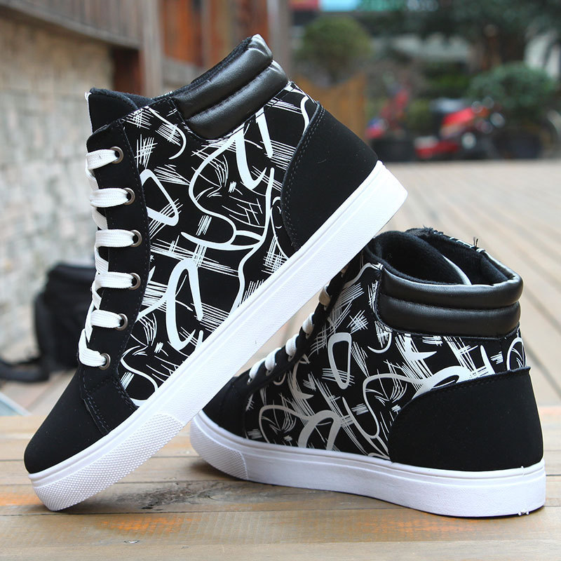 WaterMonkey Autumn Shoes Men Casual Skateboarding Shoes High Top Sneakers Sports Shoes Breathable Street Shoes Chaussure Homme