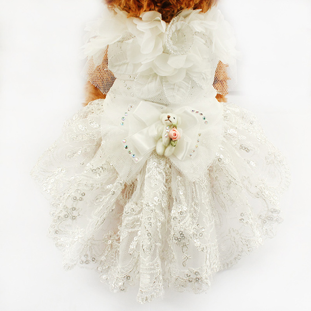 Armi store Puppy Doll Decoration Princess Dog Dress Dogs Wedding Dresses 6073007 Pet Tutu Skirt Costume Supplies  XS S M L XL