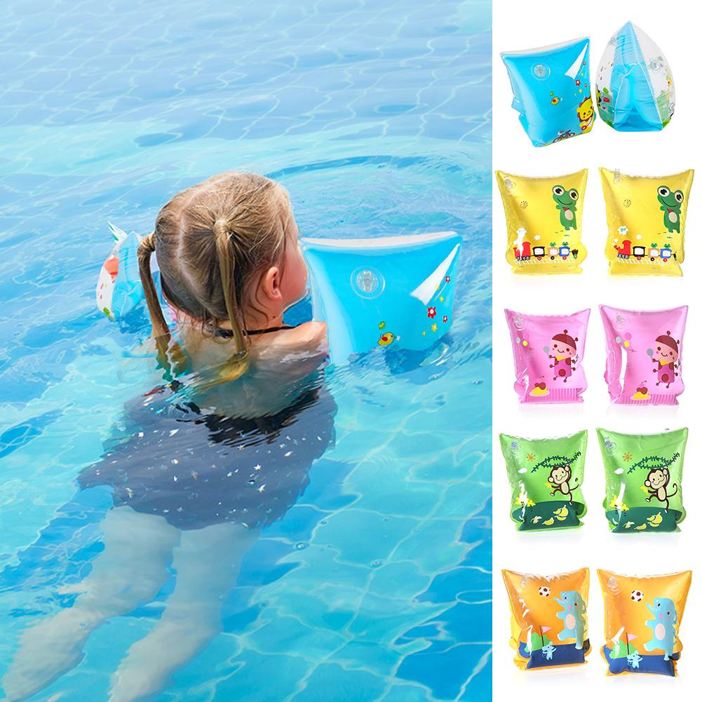 1 Pair Children's Swimming Cartoon Swimming Bag Double Airbag Swimming Helper Security Helper For Baby Kids Boy Girl