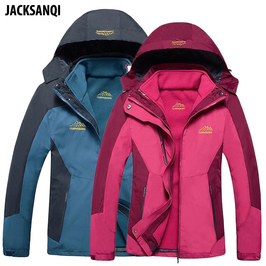 JACKSANQI 8XL Men s 2 Pieces Thick Winter Inner Fleece Jacket Outdoor Sport Warm Coat Hiking