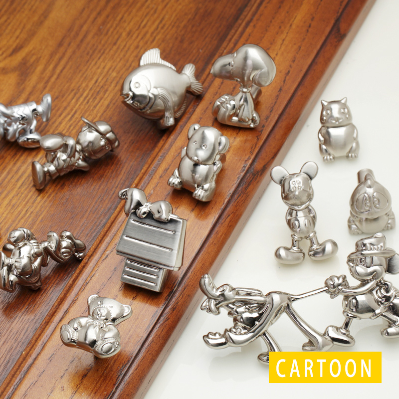 Lovely Drawer Kid Room Clothes Cabinet Cartoon Mickey Mouse Cabinet Draw Pretty Handle Knobs Modern
