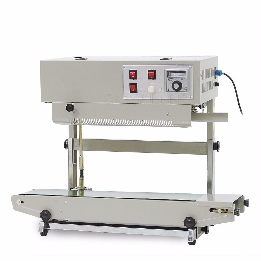 Automatic continuous plastic bag sealing machine with Coding Printer FR-900V (220V/ 50HZ) automatic plastic bag sealers frb 770i continuous sealer with steel wheel printing aluminium foil bag sealing machine