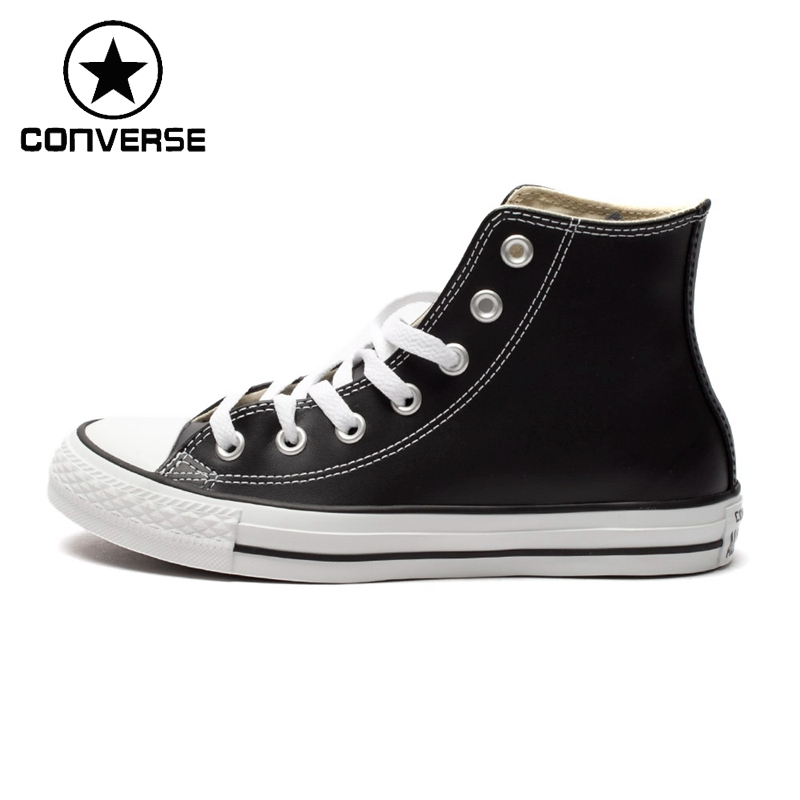 Original New Arrival 2018 Converse High top classic Leather skateboarding shoes Unisex Canvas Sneakser original new arrival converse classic kids skateboarding shoes low top canvas shoes sneakser