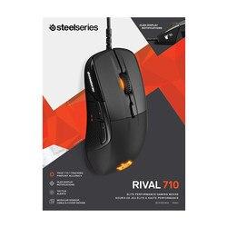 Mysz do gier SteelSeries Rival 710-16 000 CPI TrueMove3 czujnik optyczny-wyświetlacz OLED-alarmy dotykowe-oświetlenie RGB