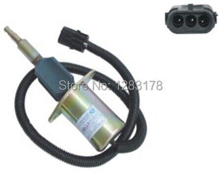 Shutdown Solenoid Valve 3964621 SA-5006-12 12V fuel shutdown solenoid valve 3932529 3939700 3932329 sa 4756 12 sa 4891 12 for engine 4bt 6bt
