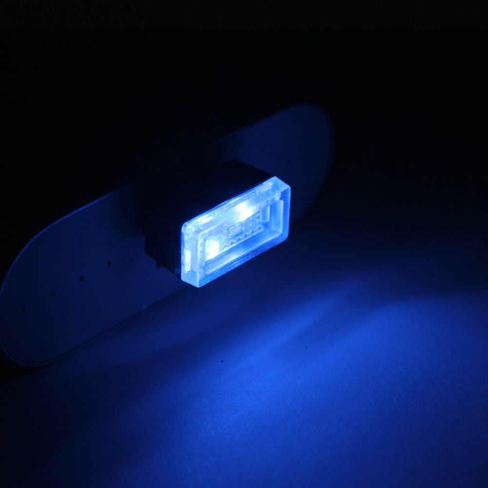 ANBLUB 1pcs NEW 5 Colors Mini USB LED Car Interior Light DC 5V Auto Decoration Atmosphere Lamp Car Styling