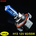 Галогенная лампа hippcron H13, 12 В, 60/55 Вт, кварцевое стекло, темно-синий, супер белый, 5000 К, лампа для автомобильных фар