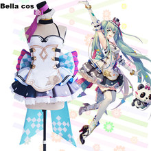 Hot VOCALOID/V Hatsune Miku with you 2017 Shanghai concert poster dress cosplay costume female showdress Carnival Anime outfit(China)