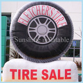 16ft big sale inflatable tire balloon, inflatable tire advertising with free logo printing