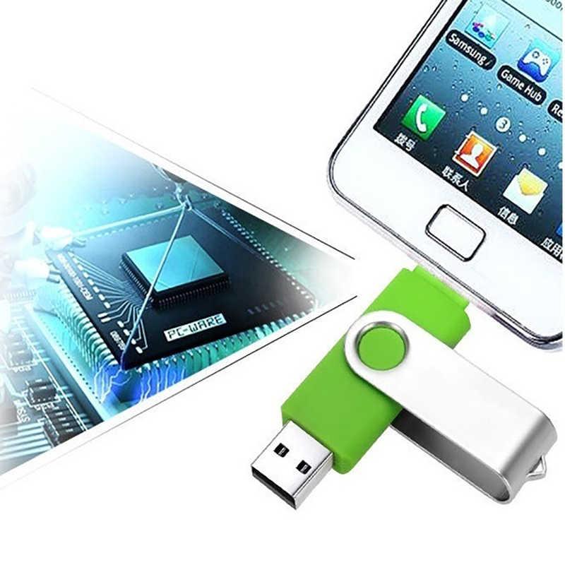 Giratorio USB OTG unidad Flash Usb 3,0 Pen Drive 128 GB tipo C Micro Usb Stick 16 GB 32 GB colgante de 64GB4GB para USB + Micro envío gratis