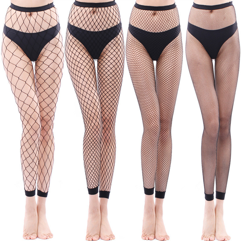 LADIES KNEE HIGH SMALL FISHNET NET SOCKS VARIOUS COLOURS WOMENS