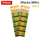 POSTHUMAN 20x Alkaline Battery 1.55V G3 AG3 LR41 LR736 V3GA SR41 192 392 Button Cell Watch Coin Batteries For Remote Control Toy