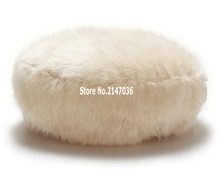 Round island design original bean bag fur lounger, elegant and high warm soft beanbag sofa cushion