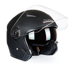 NEW JIEKAI Helmet Motorcycle Motorbike Dual Lens Open Face Helmet