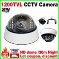 Большая Распродажа Настоящее 1/4 CMOS 1200tvL главная Купол Видеонаблюдения CCTV Цвет Аналоговый hd Камера Крытый Инфракрасного Ночного/Vision 30 м видео