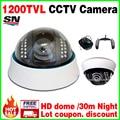 Big Sale Real 1/4CMOS 1200tvL home Dome Surveillance Security CCTV Color Analog hd Camera Indoor Infrared Night/Vision 30m video