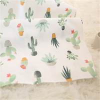 Non fluoresceable Nordic wind cactus pure cotton fabric baby bedding quilt cover cotton fabric