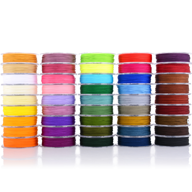 on a roll 0.3mm Nylon Cord Line of 45-color No. 70 Jade Line Ring  Extra-fine Bead-piercing Line for Ring-binding