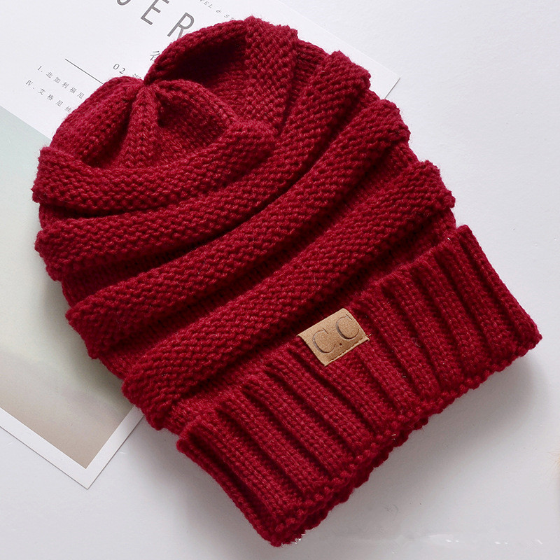 New Winter Hats For Women Knitted Woolen Hat Casual Unisex Solid Color Hip-Hop   Skullies     Beanies   Crochet Warm Caps