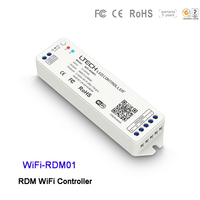 LTECH led RDM WiFi Controller WiFi RDM01 Received/Transmitted DMX512 channels DC5~24V DMX/RDM 2.4G controller for led lamp light