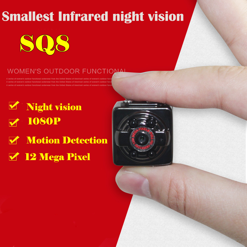 1080P 12MP HD Mini Camera Night Vision Outside Nanny Digital Micro Cam Motion Detection Camcordor Recorder