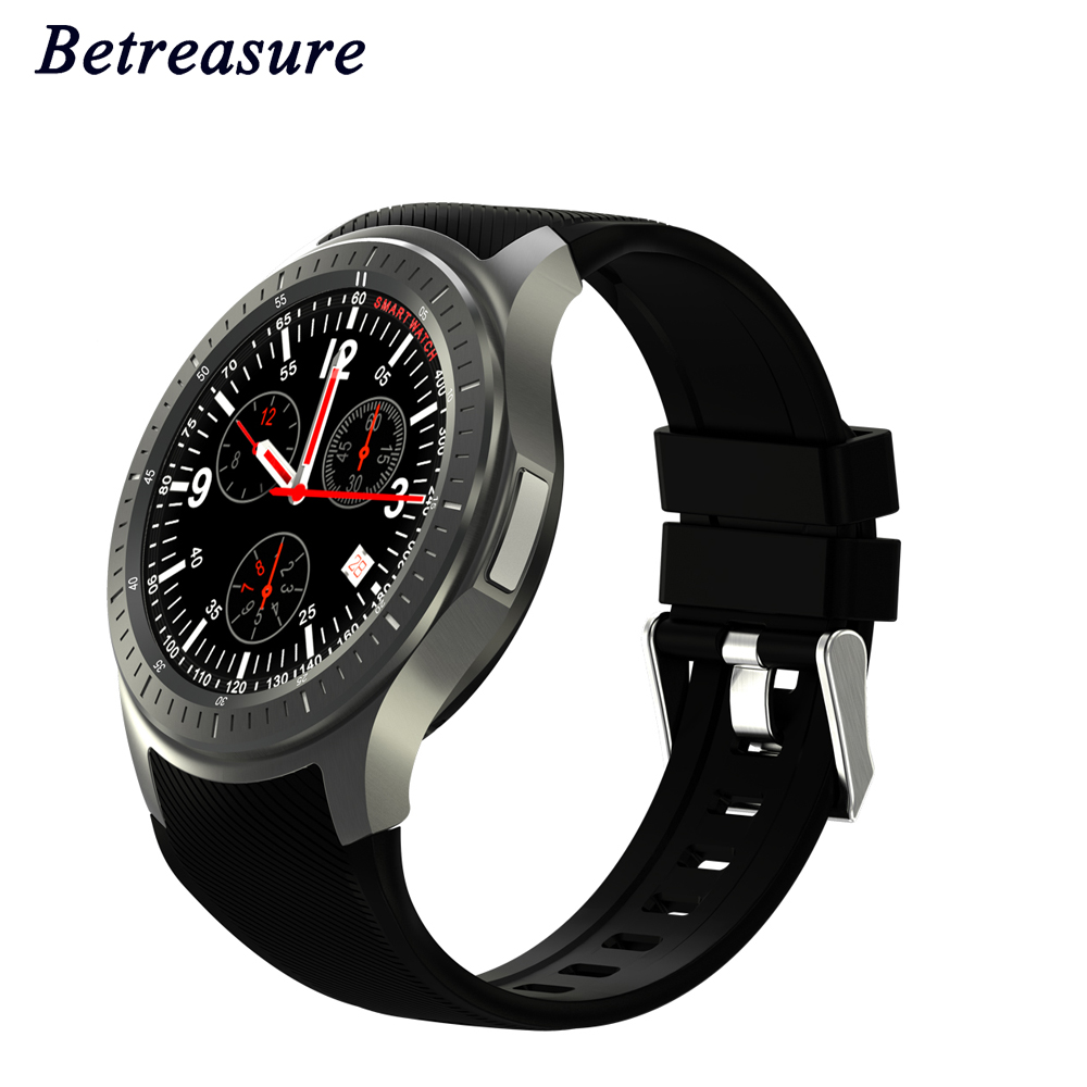 Betreasure DM368 Smart Watch Android Phone MTK6580 1.3GHz Quad Core WIFI GPS 3G GPS AMOLED Bluetooth SmartWatch For Amdroid IOS