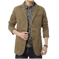 Brand Denim Men Blazer Masculino Jacket Slim Fit Casual Autumn Winter Blazer Men Suit Fashion