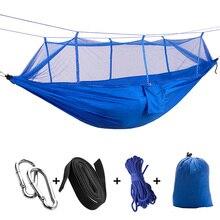 Toldo de paracaídas ligero portátil Camping Mosquito hamacas con Red para senderismo al aire libre viaje Backpacking estilo 12 toldo